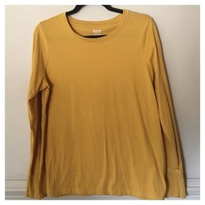 Mossimo Supply Mustard L/S Knit Top Size XL